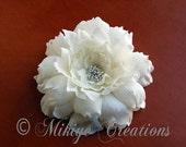 Bridal Hair Flower Large Sparkling Elegance - LAST ONE