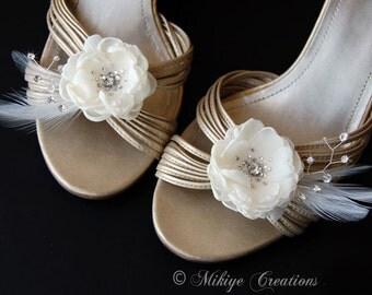 Wedding Shoe Clips, Wedding Accessories, Bridal Shoe Clips,  She Accessories, Bridal Accessories - Fluttering Softly