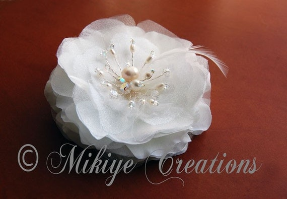 Fluttering Wings Silk Wedding Hair  Flower