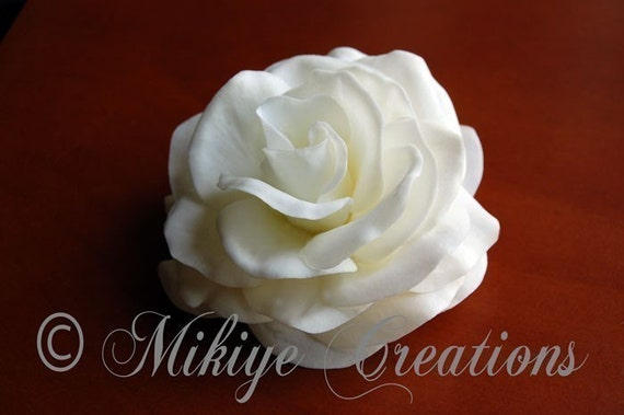 Reserved for seriousmochi Wedding Hair Flower Accessory - Bridal Hair Piece - Beautiful Gardenia 3 Inch