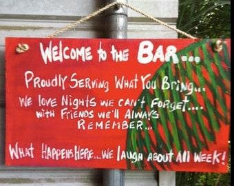 RhondaK Tiki Bar Sign with 3 sayings Custom