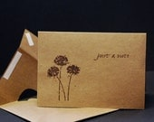 Upcycled Grocery Bag, just a note, set of 2 folded note cards and envelopes made with recycled grocery sack