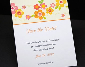 Save The Date cards, personalized, Pretty Blooms