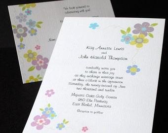 Corner Bouquets, wedding invitation sample set