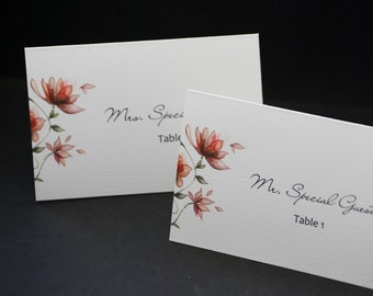Garden Party, tented, personalized wedding place card sample