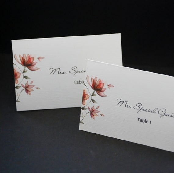 garden party tented personalized wedding place card sample