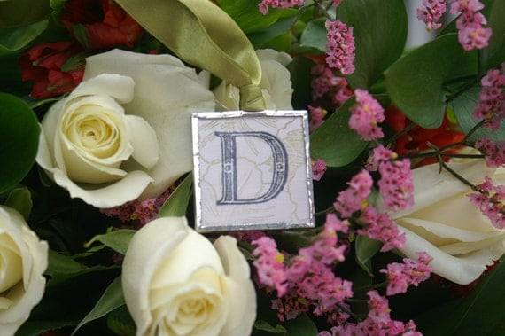 Bouquet   Custom Initial Soldered Charm