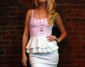SPRING SALE 50% off SAMPLE Zebra Pink and White Ruffle Dress