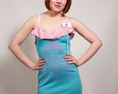 Pink and Teal Cake Dress
