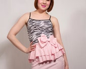 Pink and Tiger Ruffle Dress