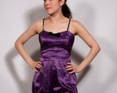 Purple Satin Playsuit