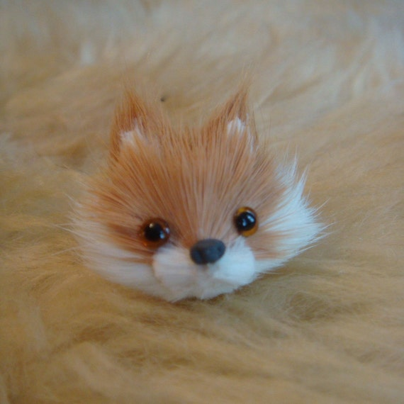 Orange Fox Head Ring