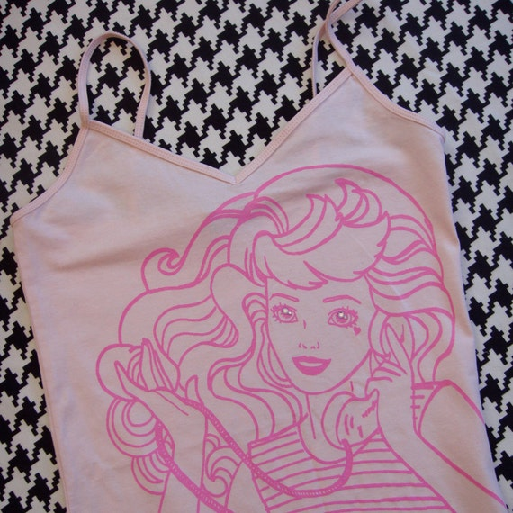 Pink on Pink Telephone Barbie Tank