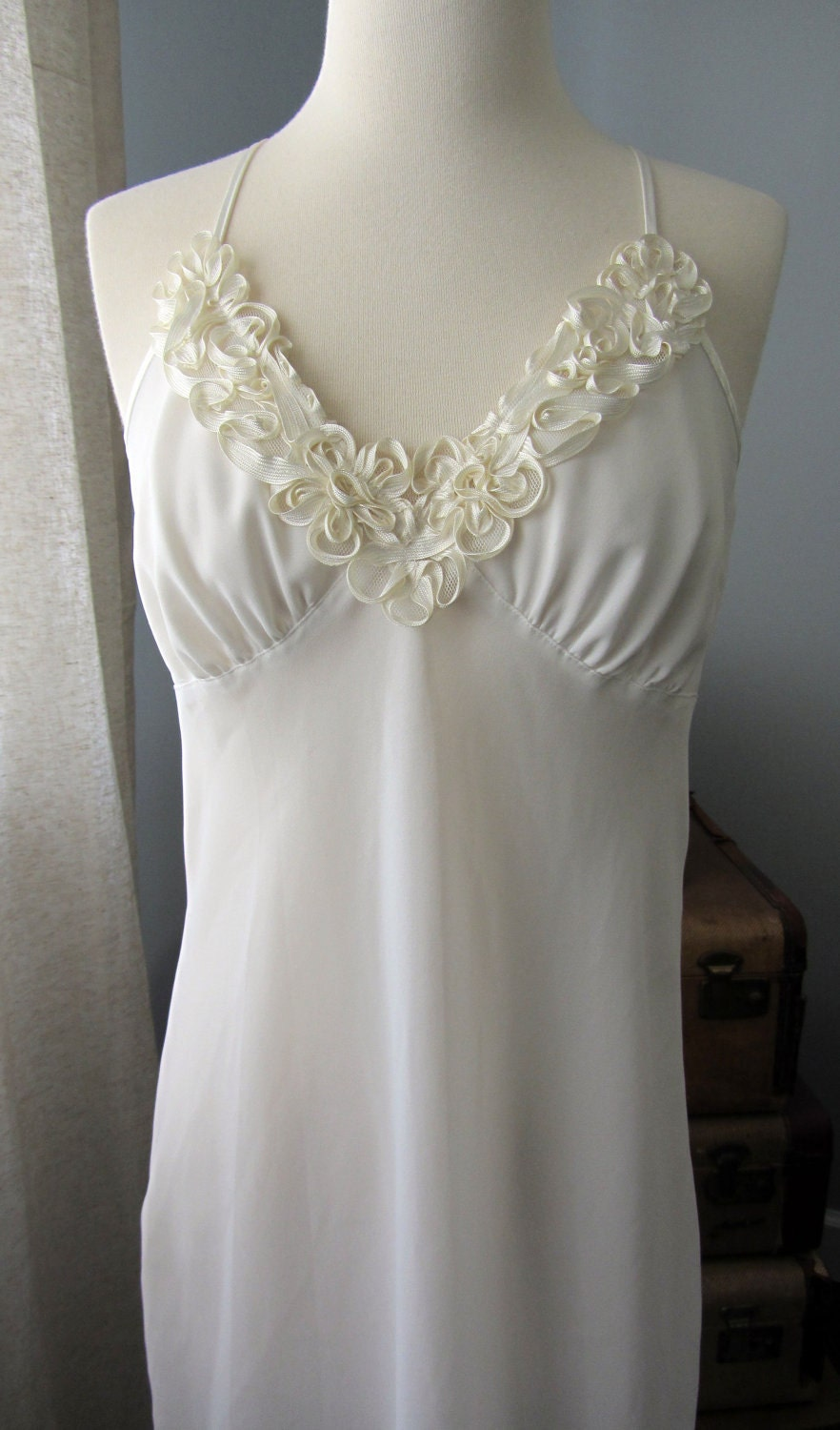 Vintage bridal lingerie night gown by madcapstyle on etsy for Lingerie for wedding dress