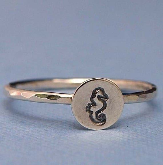 Seahorse Ring , Seahorse Jewelry, Sterling Silver Ring