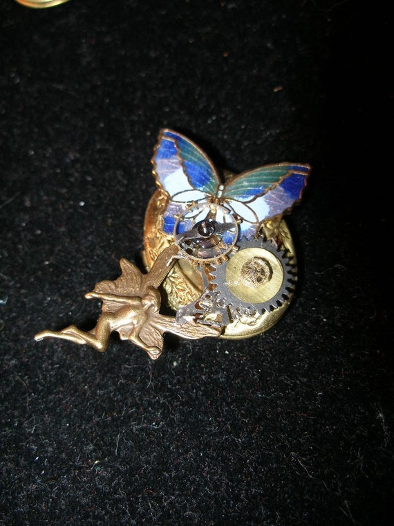 Butterfly fairy steampunkin locket - TrashionTeam, olyteam, WWWG, paganteam