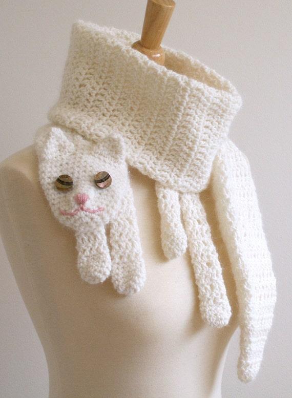 PDF Pattern for Cat Cuddler Scarf - Crochet Pattern
