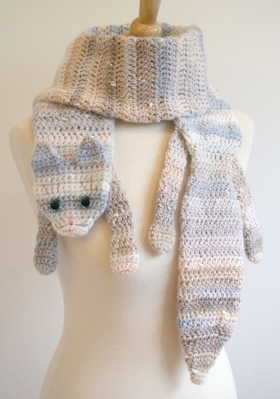 PDF Pattern for Calico Cat Scarf - Crochet Pattern