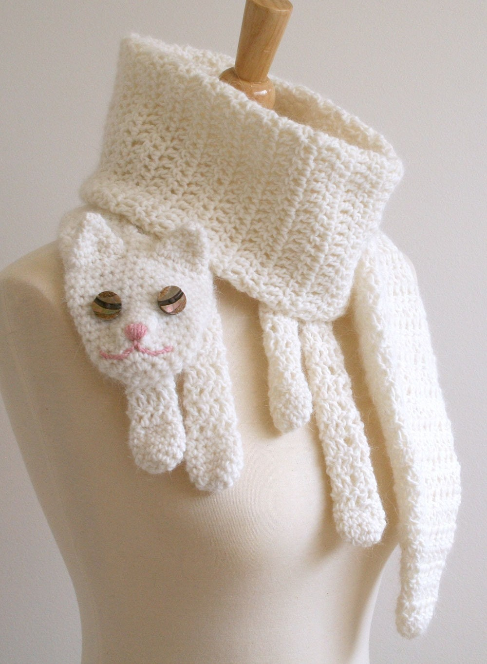 Crocheting For Cats : PDF Pattern for Cat Cuddler Scarf Crochet by BeesKneesKnitting