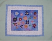 Flower Pattern Mini Quilt Wall Hanging