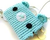 RESERVED for ashleydawns- light blue bear ipod cozy