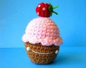 SALE pink cupcake