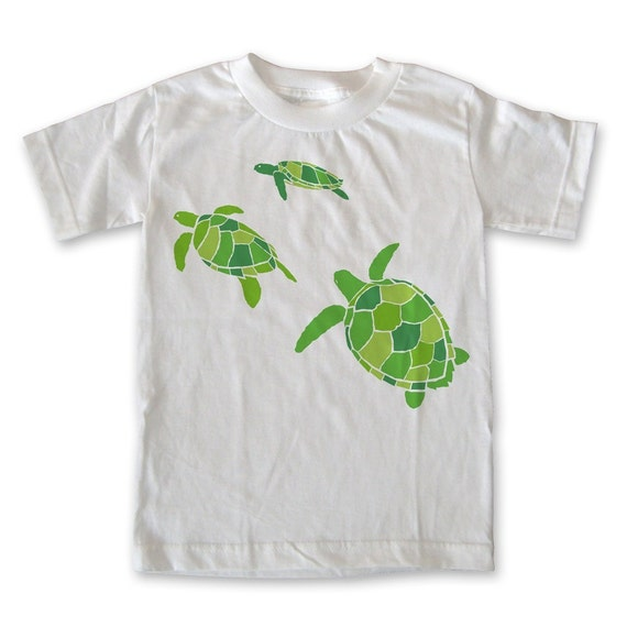 Green sea turtle kids t shirt for Green turtle t shirts review
