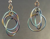 Titanium Chainmaille Earrings - Orbital Ring Earrings - Chainmail Earrings - Hoop Earrings - Titanium Earrings - Titanium Jewelry