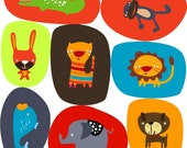 You Choose - Set of Four Animal Appliques or Iron On Patches