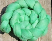 SALE... Was 10.00... Now 8.00... Merino Wool Roving....Spinning Fiber...SPRING GREEN...4 ounce