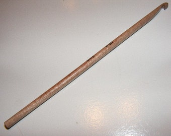 US Size L...Surina Wood Crochet Hook...8mm...6inch...Straight End