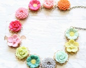 Magpie Flower Necklace