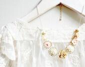 14K GF Blush Floral Charm Necklace