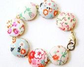 NEW Calico Fabric Bracelet