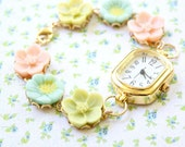 Flower Bracelet Wrist Watch