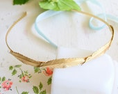 NEW- Little Feathers 22K Gold Plated Headband
