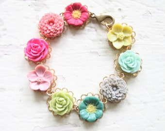 Magpie Flower Bracelet