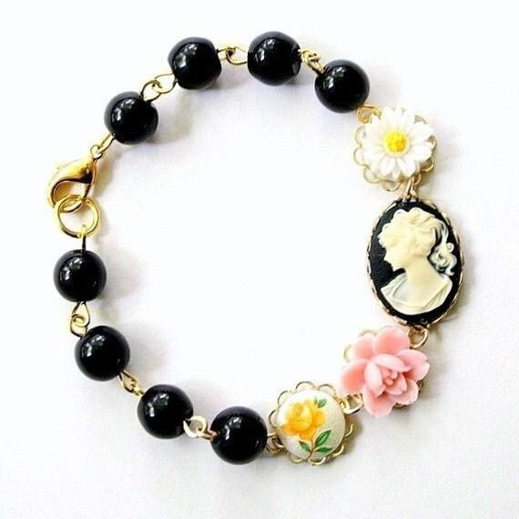 Black Cameo Bracelet