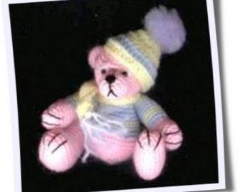 SAM Mini Thread Crochet BEAR Pattern by Edith Molina - PDF Instant Download