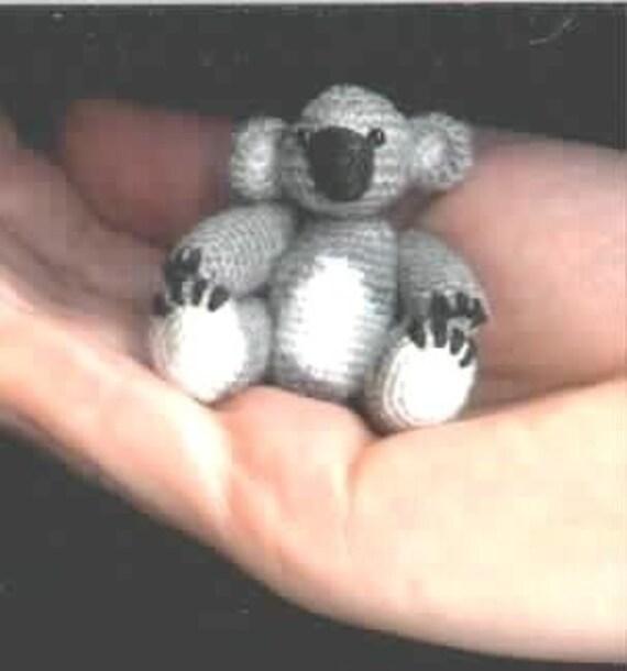 Koala Amigurumi Nose : Mini KOALA Thread CROCHET Bear PATTERN by Edith Molina PDF