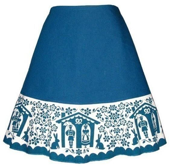 scherenschnitte skirt - teal blue