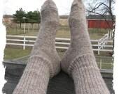 Alpaca Wool Socks - Michigan Grown - Boot Height - Great Christmas Gift