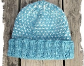 Knitted Warm Hat made of Alpaca and Merino Wool