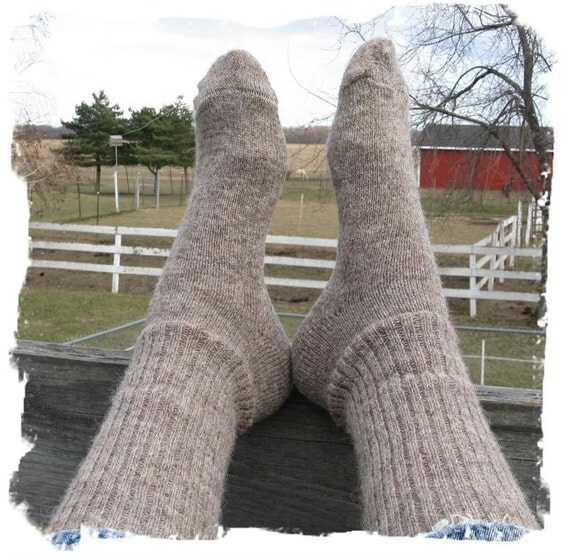 Alpaca Wool Socks - Michigan Grown - Boot Height - Great Christmas Gift