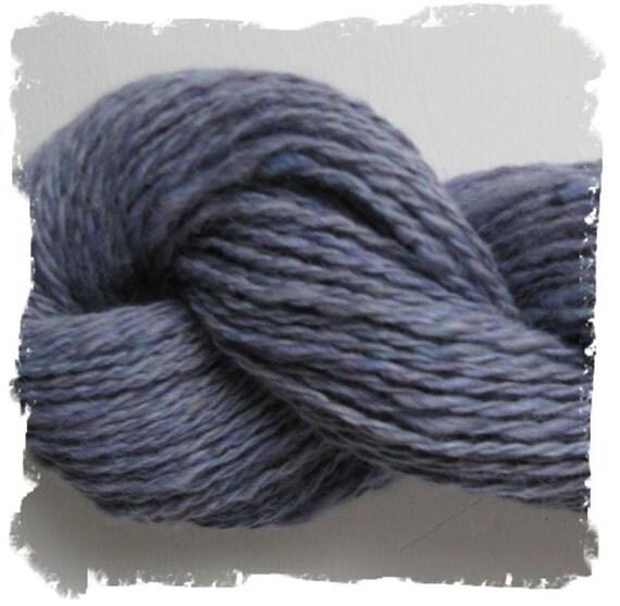HandSpun Alpaca and Silk Yarn - 154 yards - Periwinkle Blue