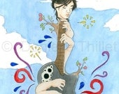 Kaki King - Original Fan Art Poster Illustration