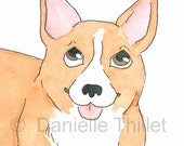 CORGI - Original Watercolor Illustration