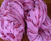 Bubblegum recycled ribbon yarn - 71 yards