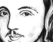 Marlowe Author Portrait - The Tudor Illustration Series