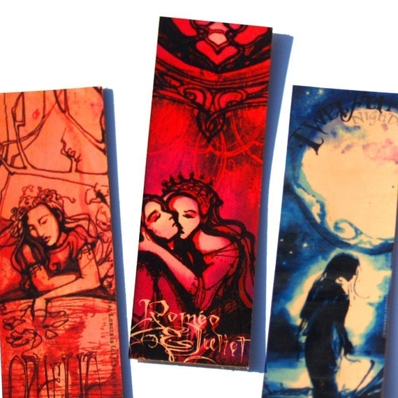 Buy 3 Get 1 Free - Shakespeare Leather Bookmarks